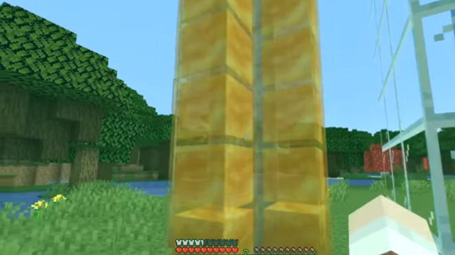 ascensor de miel minecraft
